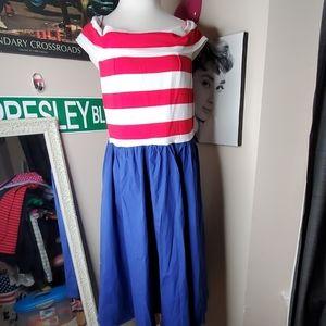 Pinup Patriotic dress